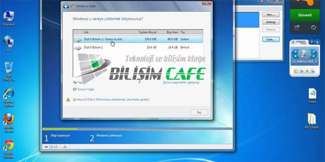 Windows 7 Disk Bölme