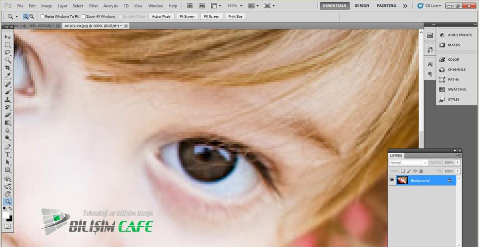 Photoshop Göz Rengi Değiştirme Adım 1