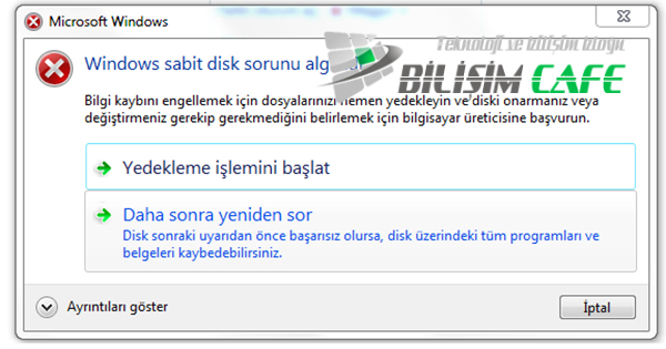 Windows Harddisk Sorunu