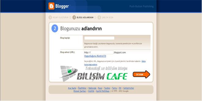 Blogger Hesabı Oluşturma