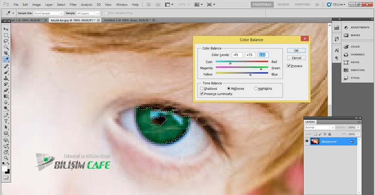 Photoshop Göz Renklendirme