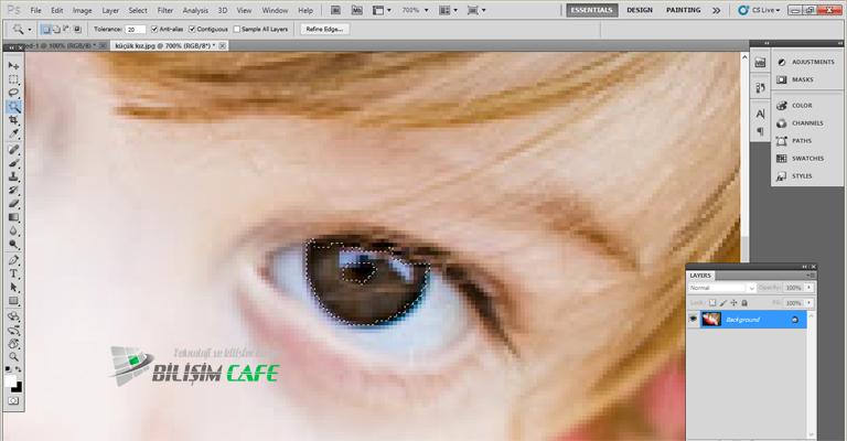 Photoshop Göz Seçimi