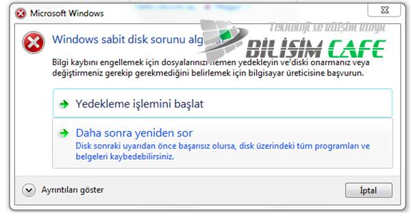 Windows Harddisk Sorunu