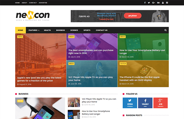 Newcon News Blogger Template